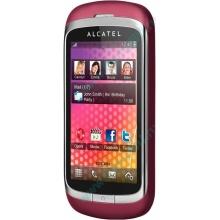 Красно-розовый телефон Alcatel One Touch 818 (Волгоград)
