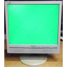 """Б/У монитор 17"""" Philips 170B с колонками и USB-хабом в Волгограде, белый (Волгоград)"""